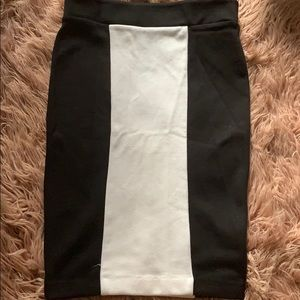 Black and whit pencil skirt